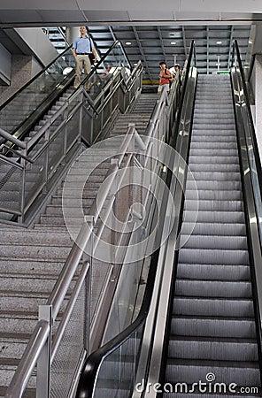 Ben Gurion Airport Escalators, Terminal 3 Editorial Photography