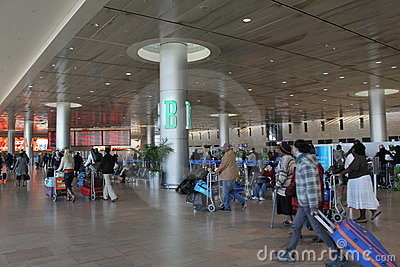 Ben Gurion Airport. Tel Aviv Editorial Photography