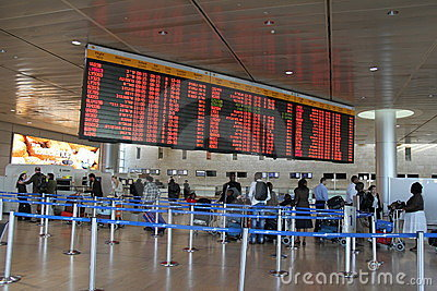 Ben Gurion Airport. Tel Aviv Editorial Stock Image