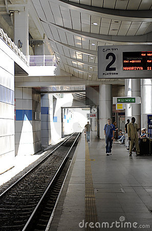 Ben Gurion Train Station, Platform 2 Editorial Stock Image