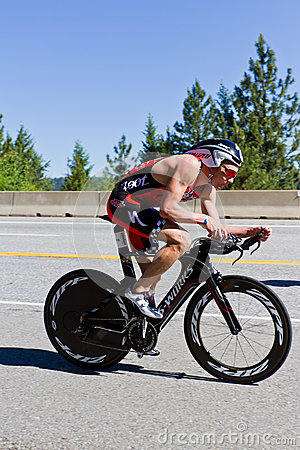 Free Ben Hoffman In The Coeur D  Alene Ironman Cycling Event Royalty Free Stock Photos - 31794208