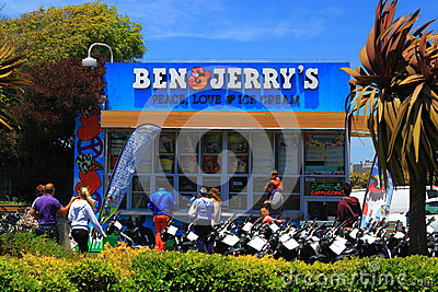 Ben Jerry Ice Cream Stand Editorial Stock Image