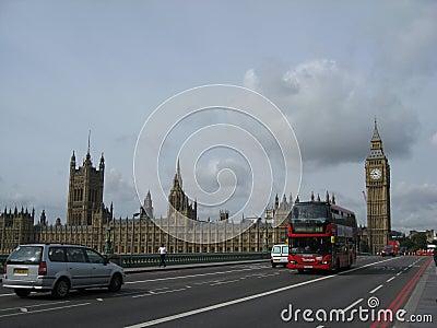парламент ben большой london Редакционное Стоковое Изображение