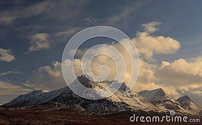 Ben Loyal mountain in winter