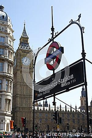 Ben metro duży szyldowy Fotografia Editorial