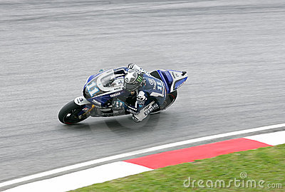 Ben Spies of Yamaha Factory Racing in Sepang Editorial Photography