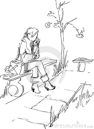 On a bench