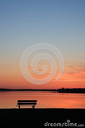Free Bench At Sunset Royalty Free Stock Image - 10053396