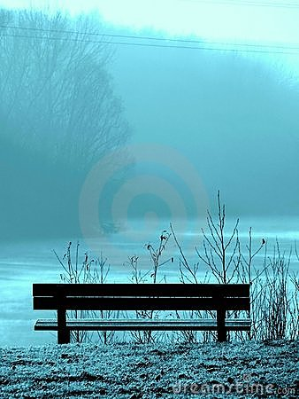 Bench in the blue