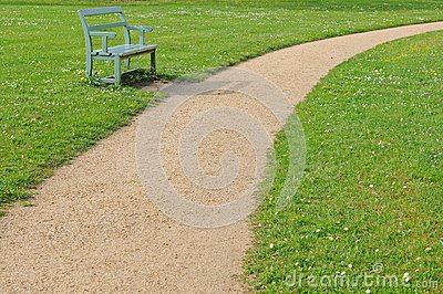 Bench With Footpath Royalty Free Stock Image - Image: 14564876