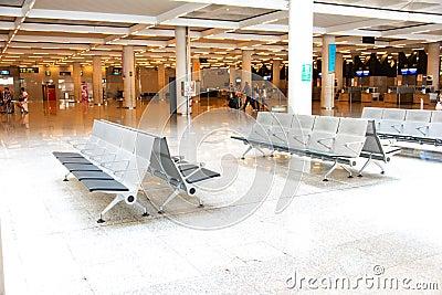Bench at Palma de Mallorca Airport Editorial Photo