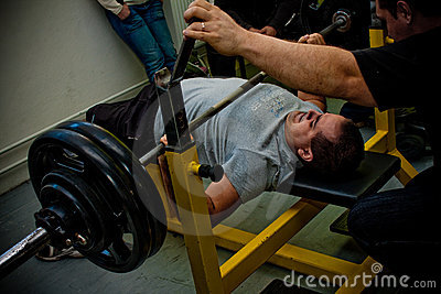 Bench press Editorial Photography