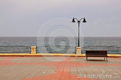 Bench on the promenade