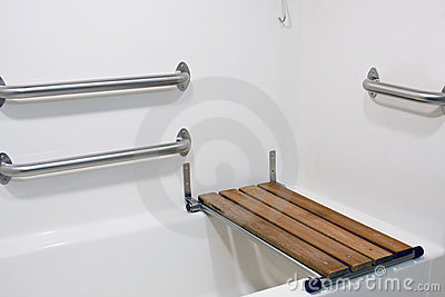 Bench seat on handicap tub