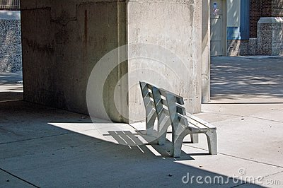 Bench in shadows