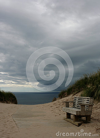 Bench and Stormy Sky #1