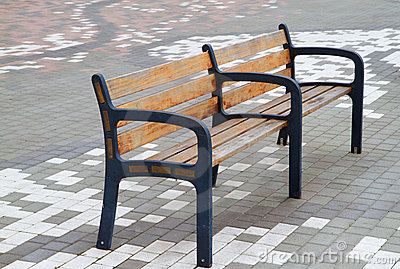 Bench on tile