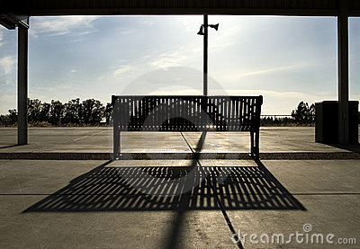 Bench at the Train Station