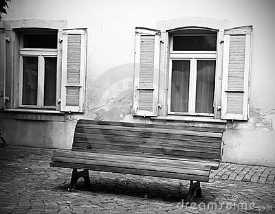 Bench and windows