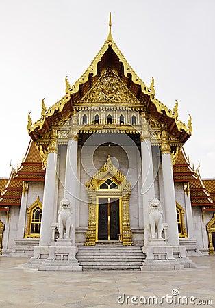 Benchamabophit temple of Bangkok Thailand