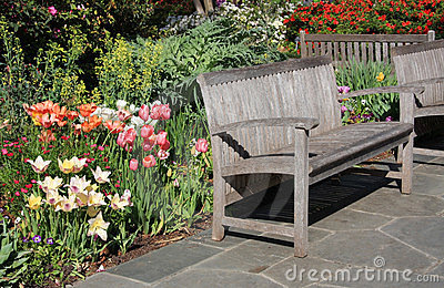 Benches in the garden