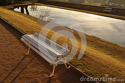 Benches by the lake
