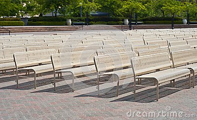 Benches in a Row