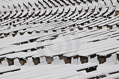 Benches in the winter