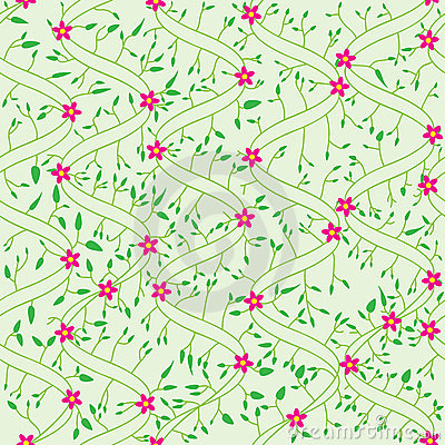 Bend Field Flowers Leaves Seamless Pattern_eps