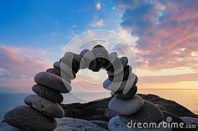 Bending of stones