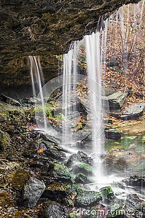 Free Beneath The Waterfall At Oglebay Stock Photo - 84094180