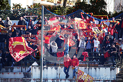 Benevento supporters Editorial Photography