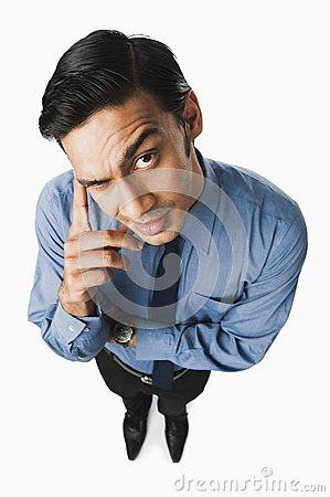 Free Bengali Businessman Thinking Stock Photography - 36256212