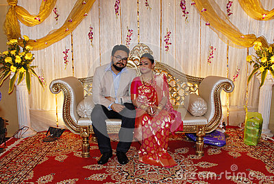 newly married bengali couple