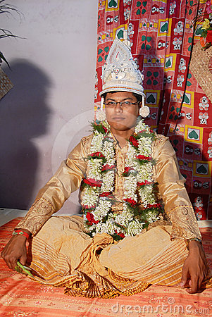 Bengali Groom Editorial Stock Image