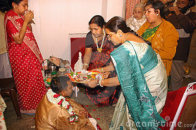 Bengali wedding Rituals in India Editorial Stock Photo