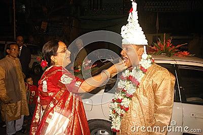 Bengali wedding Rituals in India Editorial Stock Image