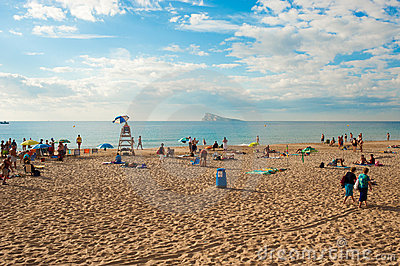 Benidorm beach and island Editorial Image