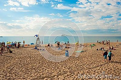 Benidorm beach and island Editorial Image