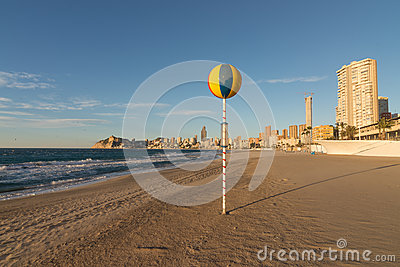 Benidorm beach in the morning