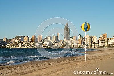 Benidorm beach resort