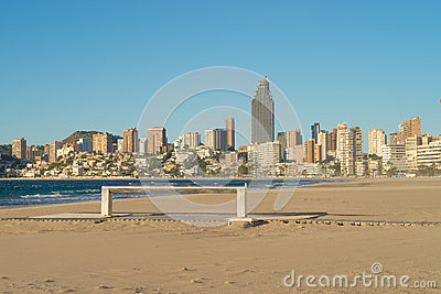 Benidorm beach resort early