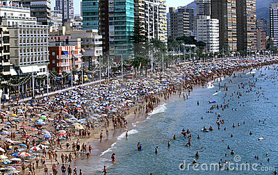 Benidorm in Spain