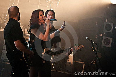 Benighted Soul Performing Live at Aula Magna Editorial Image