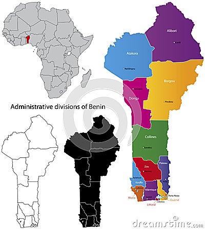 Benin map