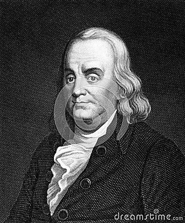 Benjamin Franklin Redaktionell Arkivbild