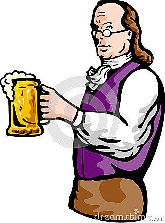 Benjamin Franklin beer mug
