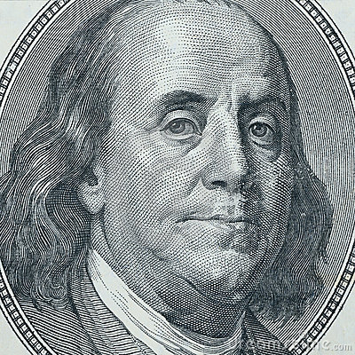 Benjamin Franklin closeup