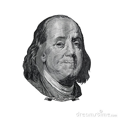Free Benjamin Franklin Portrait Found On Hundred Dollars Bill Royalty Free Stock Images - 41435629