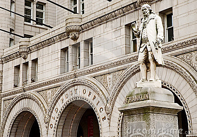 Benjamin Franklin - primer postmaster